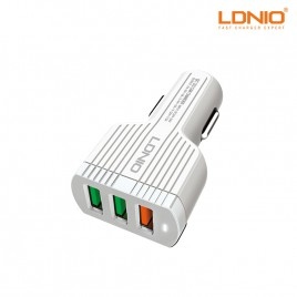 LDNIO Qualcomm 3.0 USB Port Adaptive Fast Car Charger with Data Cable (C702Q)