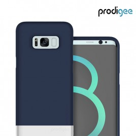 PRODIGEE Collection Accent for Galaxy S8 Plus - Navy Blue Silver