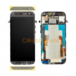 HTC One M8 LCD Screen Assembly With Frame - Black