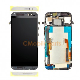 HTC One M8 LCD Screen Assembly With Frame - White