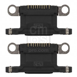 iPhone 12 / 12 Mini Dock Connector Charging Port ( 2 Pieces ) - Black