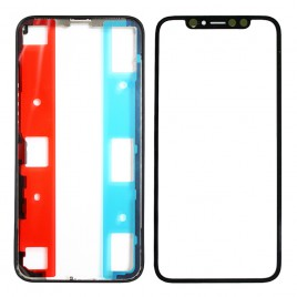 iPhone X Front Glass (Pre-installed OCA Glue) & LCD Frame (Pre-installed Adhesive) Set
