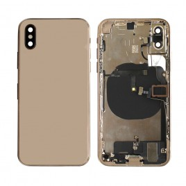 iPhone XS Back Housing (Pre-installed Components and Flex Cables) - Gold