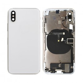 iPhone XS Back Housing (Pre-installed Components and Flex Cables) - Silver