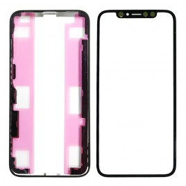 iPhone XS Front Glass (Pre-installed OCA Glue) & LCD Frame (Pre-installed Adhesive) Set