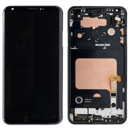 LG V30 LCD Assembly with Frame - Black