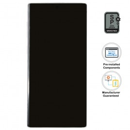 Galaxy Note 10 LCD Assembly With Frame (Pre-installed Small Components) - Aura White (OEM Grade)