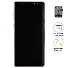 Galaxy Note 9 LCD Assembly With Frame (Pre-installed Small Components) - Lavender Purple (OEM Grade)