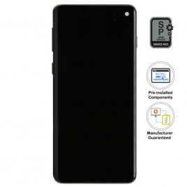 Galaxy S10 LCD Assembly With Frame (Pre-installed Small Components) - Ceramic White (OEM Grade)