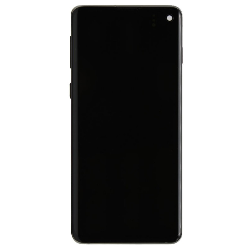 Galaxy S10 LCD Assembly With Frame - Prism Black