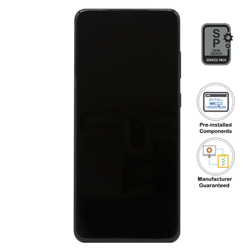 Galaxy S20 Plus LCD Assembly With Frame (Pre-installed Small Components) - Ceramic Gray (OEM Grade)