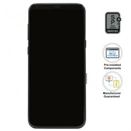 Galaxy S8 Plus LCD Assembly With Frame (Pre-installed Small Components) - Midnight Black (OEM Grade)