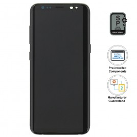 Galaxy S8 LCD Assembly With Frame (Pre-installed Small Components) - Midnight Black (OEM Grade)