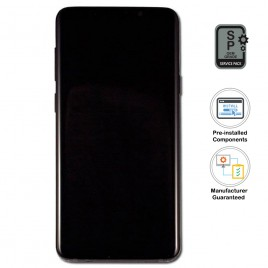 Galaxy S9 LCD Assembly With Frame (Pre-installed Small Components) - Midnight Black (OEM Grade)