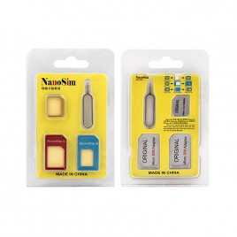 4 in 1 Nano Sim Card to Micro Sim Card Adapter Set