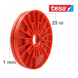 TESA Red Adhesive Double Sided Roller Tape for LCD Screen (1mm x 25m)