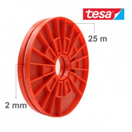 TESA Red Adhesive Double Sided Roller Tape for LCD Screen (2mm x 25m)
