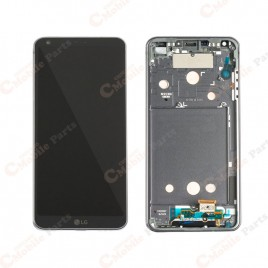 LG G6 LCD Screen Assembly With Frame - Black