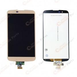 LG K10 4G Dual LCD Assembly without Frame - Gold
