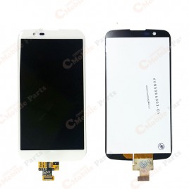 LG K10 4G Dual LCD Assembly without Frame - White