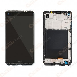 LG V20 LCD Assembly with Frame - Black