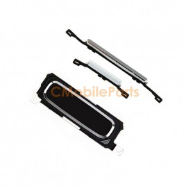 Galaxy S4 Home Button with Power Volume Button Flex Cable - Black