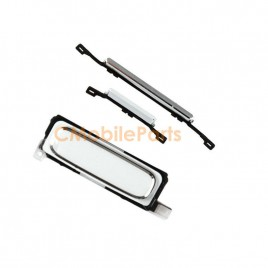 Galaxy S4 Home Button with Power Volume Button Flex Cable - White
