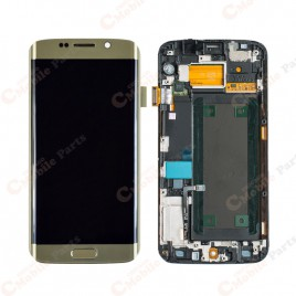 Galaxy S6 Edge LCD Assembly With Frame (All US Models)  – Gold Platinum
