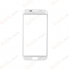 Galaxy S6 Edge Front Glass Lens - White Pearl