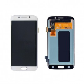 Galaxy S6 Edge LCD Assembly Without Frame – White Pearl