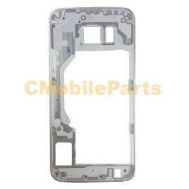 Galaxy S6 Mid Frame Without Small Parts - White
