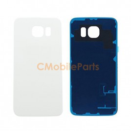 Galaxy S6 Back Cover Glass - White Pearl