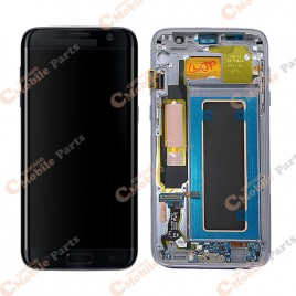 Galaxy S7 Edge LCD Assembly With Frame (All US Models) – Black Onyx