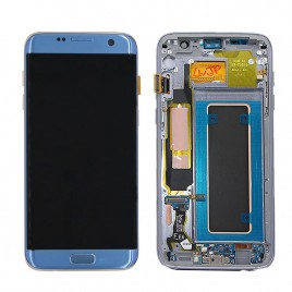 Galaxy S7 Edge LCD Assembly with Frame (All US Models) – Blue Coral