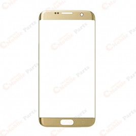 Galaxy S7 Edge Front Glass Lens - Gold Platinum