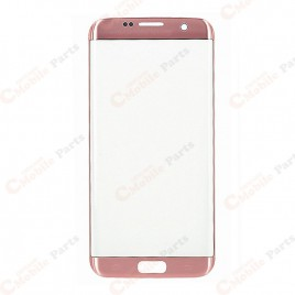 Galaxy S7 Edge Front Glass Lens - Pink Gold