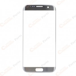 Galaxy S7 Edge Front Glass Lens - Silver Titanium