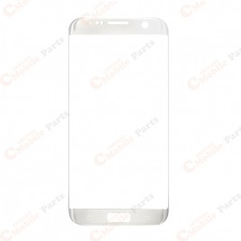Galaxy S7 Edge Front Glass Lens - White Pearl