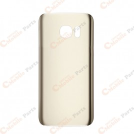 Galaxy S7 Edge Back Cover Glass - Gold Platinum