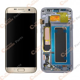 Galaxy S7 Edge LCD Assembly With Frame (All US Models) – Gold Platinum