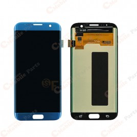 Galaxy S7 Edge LCD Assembly Without Frame – Blue Coral