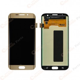 Galaxy S7 Edge LCD Assembly Without Frame – Gold Platinum