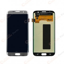Galaxy S7 Edge LCD Assembly Without Frame – Silver Titanium