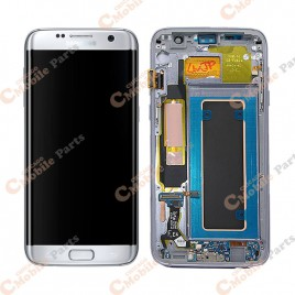 Galaxy S7 Edge LCD Assembly With Frame (All US Models) – Silver Titanium