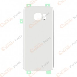 Galaxy S7 Edge Back Cover Glass - White Pearl