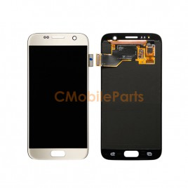Galaxy S7 LCD Assembly Without Frame – Gold Platinum