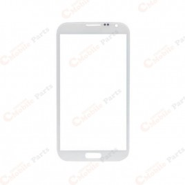 Galaxy Note 2 Front Glass Lens - White (2 Set)