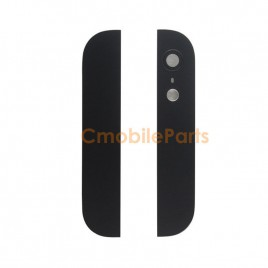 iPhone 5 Top and Bottom Back Cover - Black