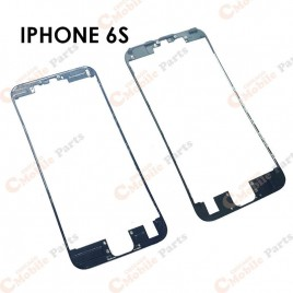 Black Front Middle Frame W/ Glue for iPhone 6S (x10)