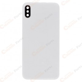iPhone X Back Glass Cover with Back Camera Lens - Silver